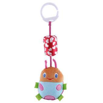 Harga Infant Baby Animal Rattles Bed Stroller Hanging Bells Plush Wind Chimes Doll Toy Beetle(Pink)
