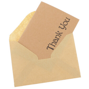 Harga MagiDeal 50pcs Kraft Thank You Cards & Envelopes