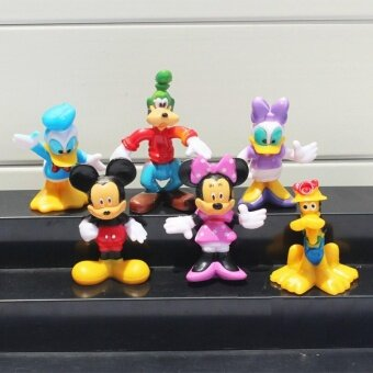 Harga Mickey Mouse, Minnie Mouse, Donald Duck, Daisy Duck, Pluto, Goofy Figurine Set / Cake Topper (6 in 1)+ free sticker