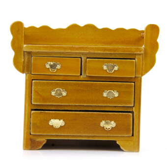 Harga Drawer Chest Miniature Furniture For House Decoration With 4 Movable Drawer