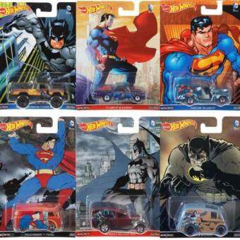 Harga Original Hot Wheels Pop Culture D Case BATMAN vs SUPERMAN SET of 6