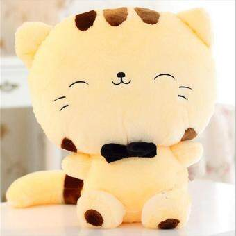 Harga BUYINCOINS Cute Big Face Smiling Cat Plush Doll Cushion Fortune Cat Stuffed Toys