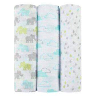 Harga Aden+Anais Ideal Baby Muslin Swaddling 3Pk Happy Ellie/Clouds/Dew Drop
