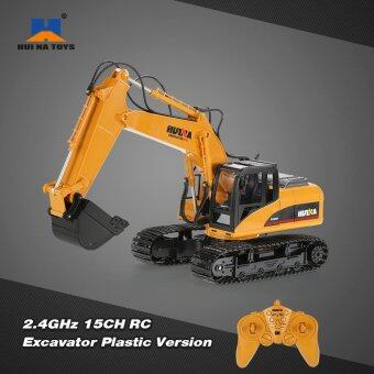Harga Original HUI NA TOYS 2.4GHz 15CH Engineering Electric Excavator Construction Truck RC Car Plastic Version