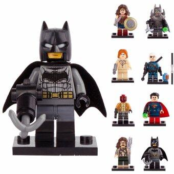 Harga 8PCS DC Hero Batman&Superman Dawn of Justice Minifigures Building Toys For Lego