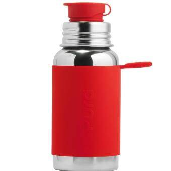 Harga Pura Sport 18oz Sport Bottle with Red Sleeve