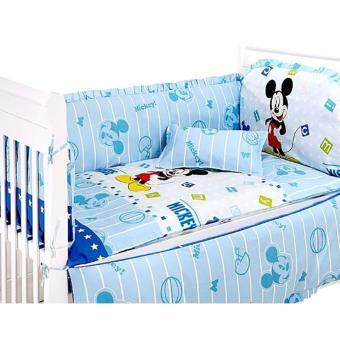 Harga Baby Cot Mickey Mouse Bedding Set (60x120cm)
