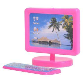 Harga Dollhouse Miniature Pink Modern Piece Computer Furniture For Barbie Doll