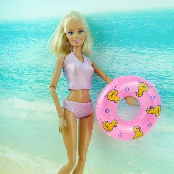 Harga Swimming Buoy Lifebelt Ring Circles for Barbie Doll Pink