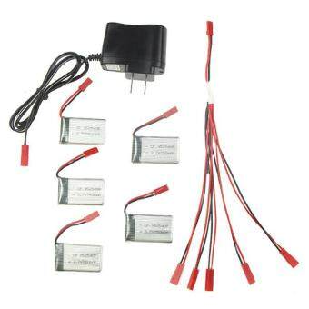 Harga MJX X300C X400 Spare Parts 3.7V 750mAh 5pcs Batteries with 5 in 1 Charger A