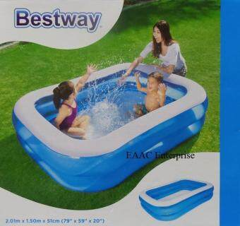 Harga Bestway Inflatable Paddling Family Kids Swimming pool 2.01mx1.5mx51cm