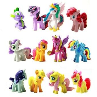 Harga My Little Pony Cake Toppers 12-piece Set Collection free pony sticker