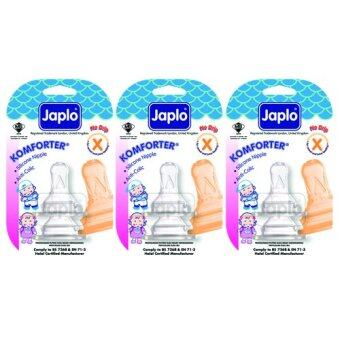 Harga Japlo Komforter Anti Colic Nipple X - 2 pcs x 3 Blister Cards (3 Blister Cards in 1)