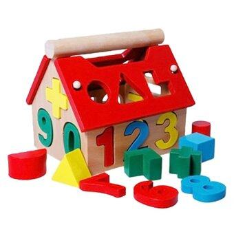 Harga Kids Baby Boys Girls Play Games Wooden Digital Number House Building Blocks Toy Intelligent Toys