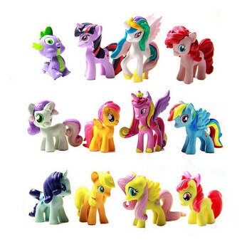Harga Figurines Playset for My Little Pony Kids Gift 12Pcs