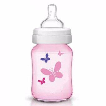 Harga Philips AVENT Classic Plus + Butterfly Pink 1 x 260ml 9oz Single Loose Pack