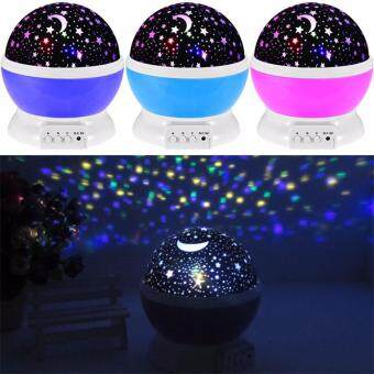 Harga Room Novelty Night Light Projector Lamp Rotary Flashing Starry Star Moon Sky Star Projector Kids Children Baby Abajur Infantil