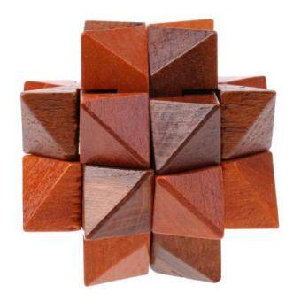 Harga BolehDeals 3D Wooden Brown Star Puzzle Brain Teaser Game Kids Adult Intelligence Toy