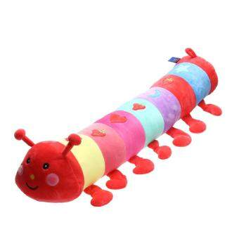 Harga 1pc Baby Plush Toys Large Dolls Colorful Caterpillar Pillow Doll (2#) (Multicolor)