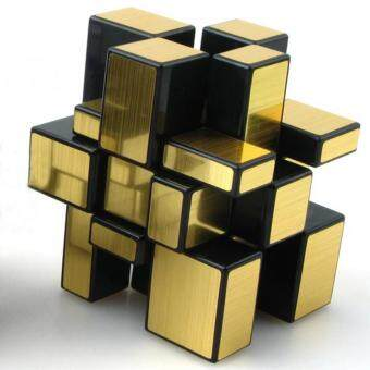 Harga Magic Cube Set Fluctuation Angle Puzzle Cube Skewb Speed Magic Cube Puzzle 3x3x3 Mirror Magic Cube Toys (GOLD)