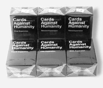 Harga 6set Humanity Cards Game 1-6 Expansion Cards Games Humanites Card Game 100 Cards Unbeatable Classic