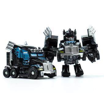 Harga Hanyu King Kong Q Version Transformed Toys King Kong Mini Ransformer Robot Transforming Car Robot Toys-Black