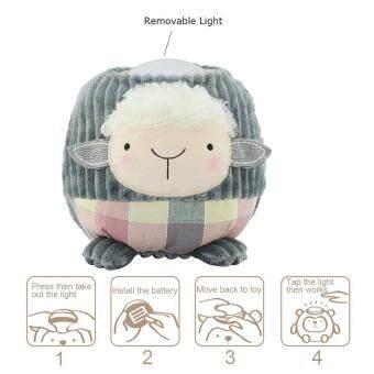 Harga niceEshop Cute Sheep Plush Toy Baby Sleep Lamp Battery-Operated Kids Night Light Tap Light For Easter & Christmas(Gray Sheep)