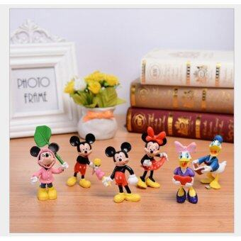 Harga Mickey Mouse, Minnie Mouse, Donald Duck, Daisy Duck, Figurine Set / Cake Topper (6 in 1)+ free sticker