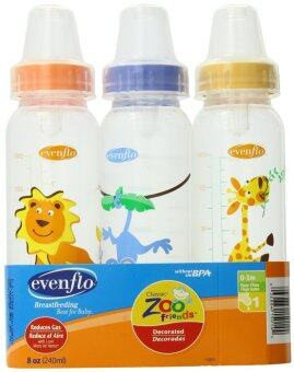 Harga Evenflo Zoo Friends Decorated Polypro Bottle - 8oz ( 3 Pack )