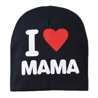 Harga Kids Hat Knitted Cotton Toddler I LOVE PAPA MAMA Black I Love Mama
