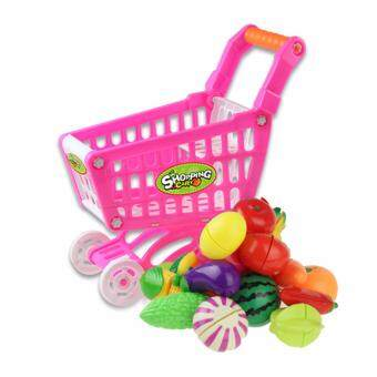 Harga Coolplay CP180385612 11.8'' Mini Shopping Cart Kids Toys with Full Grocery Food Toy Fruit And Vegetable