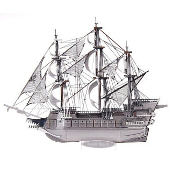 Harga 3D Metal Puzzles Models Flying Dutchman(Silver)