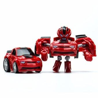 Harga HengSong Hornets King Kong Q Version Transformed Toys King Kong Mini Ransformer Robot Transforming Car Robot Toys-Red