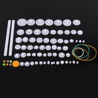 Harga Plastic Gears Pulley Belt Worm Kits Crown Bevel Gear Set Toy DIY Parts(75kinds)