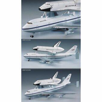 Harga Academy airplane model US-12708 1/288 US space shuttle and 747 loaders