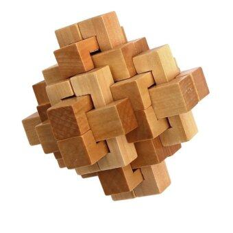 Harga Children Adult Wooden Toys Unlock Rubik's Cube Kong Ming Lock Early Childhood Educational Toys