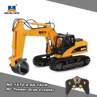Harga HUI NA TOYS NO.1570 2.4G 16CH RC Excavator Timber Grab Crawler Truck Engineering Vehicle Toys