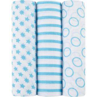 Harga Aden Anais Muslin Swaddle Star Aquarius 3pk Blue