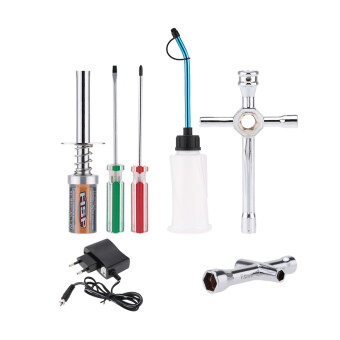 Harga Original HSP 80141 Nitro Starter Kit Glow Plug Igniter Charger Tools Fuel Bottle for HSP RedCat Nitro Powered 1/8 1/10 RC Car