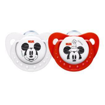 Harga NUK Sleeptime Mickey Mouse Soother - Step 2 6-18 months Red + White