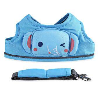 Harga Cute Cartoon Harnesses Leashes Anti-lost Belt Cotton Child Safety Learning Walking Assistant Vest Belt for Toddler (Blue)