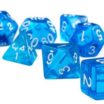 Harga 7Pcs Blue D4 D6 D8 D10 D12 D20 Dice Set For Dungeons And Dragons Game (Intl)