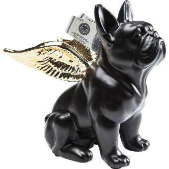 Harga Money Box Sitting Angel Dog Gold-Black