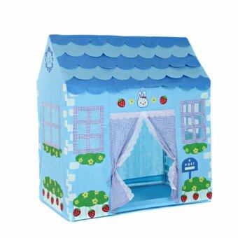 Harga Kids Folding Playhouse Tent Secret Garden Play Tent (Blue)