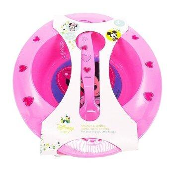 Harga Mickey & Minnie Bowl With Spoon (Pink)