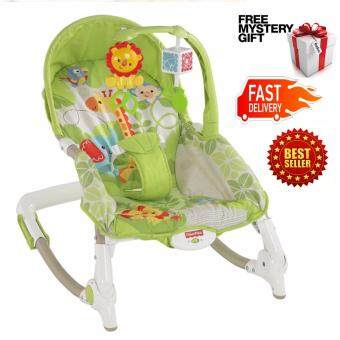 Harga Baby to Toddler Rocker Chair Rainforest Fisher Price Vibration Bouncer infant rocker chair Christmas gift Fullmoon Birthday Gift