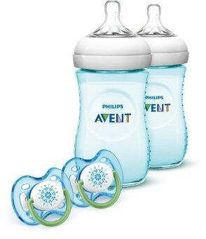 Harga US Imported 2 x 9oz/260ml Philips AVENT Natural Bottle Gift Set Teal