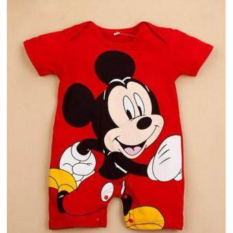 Harga Children's clothing Disney Mickey cartoon print jumpsuit