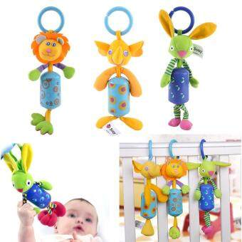 Harga Infant Baby Animal Rattles Bed Stroller Hanging Bells Plush Wind Chimes Doll Toy Pink Beetle