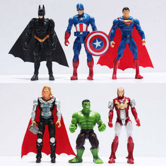 Harga 6Pcs The Avengers Figures Super Hero Toy Doll Baby Hulk Captain America Superman Batman Thor Iron Man